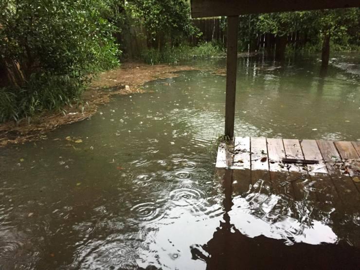 Harvey rising flood waters.