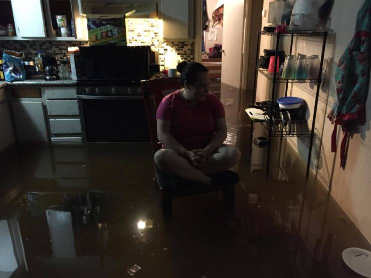 Ana's emotional moment after Hurricane Harvey floods her entire home.