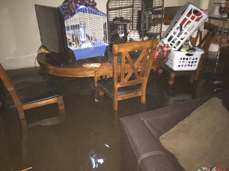 Harvey flooding inside the house